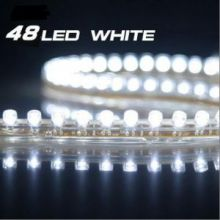 Светодиодная лента на 48 LED диодов, влагозащищеная, свет белый, шт