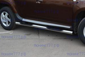 Боковые подножки Souz-96, трубы с проступями, нерж. сталь ф 76мм