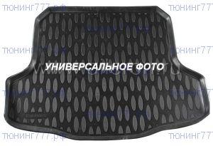 Коврик (поддон) в багажник, Aileron, черный с бортиками для 7мест.