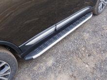 Боковые подножки ТСС, алюминий с пластиковой накладкой, к-кт