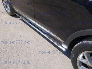 Подножкии боковые, ТСС, овал с проступью, нерж. сталь ф 75х42мм