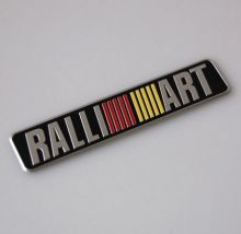 Эмблема RalliArt, наклейка 10х2.4см