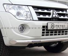 Защита переднего бампера, Metec, с LED подсветкой (DRL), нерж. сталь ф 60мм
