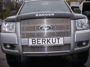 Решетка в бампер, Berkut, полированая нерж. сталь, а/м 2006-2008