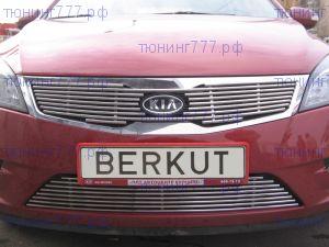 Решетка в бампер, Berkut, полированая нерж. сталь, а/м 2010-2012