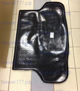 Коврик (поддон) в багажник, Unideс, полиэтилен, черный с бортиками