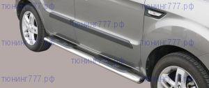 Боковые подножки Misutonida, овал, серия  GRAND PEDANE OVALI, нерж. сталь