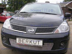 Решетка в бампер, Berkut, нерж. сталь, а/м 2004-2007