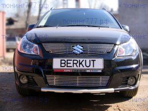 Решетка в бампер, Berkut, нерж. сталь, хетчбек с 2010г.в.