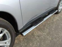 Боковые подножки ТСС, овал с накладками, нерж. сталь ф 120х60мм