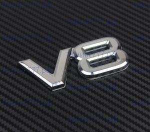 Эмблема V8, хром