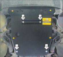 Защита двигателя, Motodor, сталь 3мм., а/м 2002-2007, V - 3.2 и 4.5S