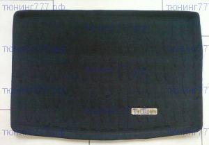 Коврик (поддон) в багажник, Aileron, полиуретановый черный с бортиками и ворсовой вставкой