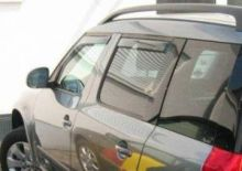 Ветровики 4х окон, ClimAir, вставные светло-дымчатые, к-кт