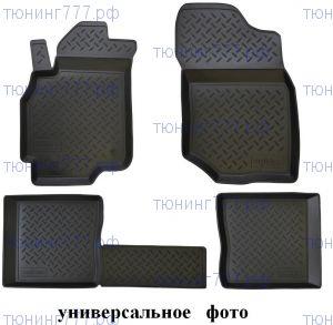 Коврики в салон, Unidec, полиуретановые черные, с бортиком, на 2 ряда