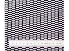 Сетка в бампер, Сота, алюминий, цвет черный, 100 х 25см