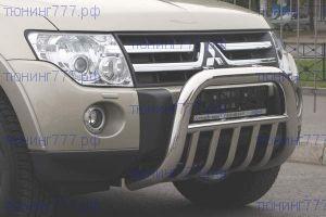 Защита переднего бампера Souz-96, кенгурятник с поперечинами, нерж. сталь ф 76мм