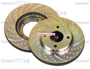 Тормозные диски EBC, серия TurboGroove, передний к-кт, 300мм (2.0л)