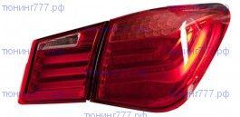 Задняя LED оптика, BMW стиль, к-кт на седан