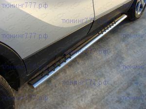 Боковые подножки ТСС, овал с проступями, нерж. сталь ф 75х42мм